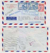 "GUATEMALA 1967 BOXED ""VIA AEREA/VULE POR AVIATECA"" SPECIAL DELIVERY COVER TO US"