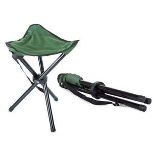 Tabouret Pliant pour Camping Plage Pêche Plein Air Chaise en Tissu