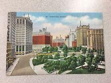 Downtown Detroit, Detroit Michigan ~ Vintage Postcard 1942