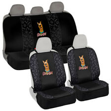 Pet Seat Cover Universal Waterproof Set for Front & Rear Car Suv Van Scooby Doo