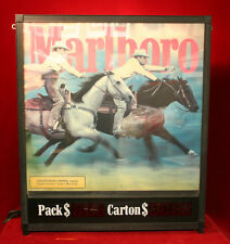"Rare Marlboro Digital Cigarette Pricing Advertising Sign (31"" x 26"" x 5"")"