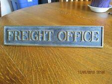 GREAT NORTHERN RR FREIGHT OFFICE BRASS SIGN KLAMATH FALLS OREGON STATION