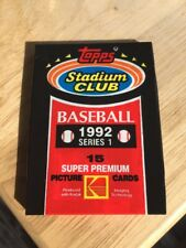 1992 Topps Stadium Club Series 1 & 2 Baseball Cards Pack 1 Pack Of Each