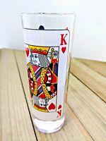 King of Hearts Tall Shot Glass 2 oz