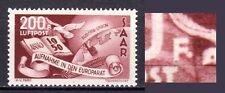 Saarland 1950 Mi.298I Plattenfehler postfrisch Fingerabdruckspur Flugpostmarke