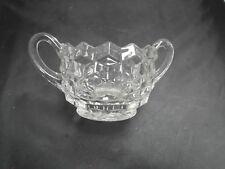 VINTAGE AMERICAN FOSTORIA CUBE GLASS BOWL