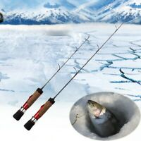 "Winter Ice Fishing Rod Carbon Lightweight Retractable Telescopic Pole 16/21"" HOT"