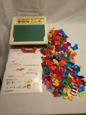 Vintage 1972 Fisher Price School Days Desk Letters, Numbers & 16 Word Stencils