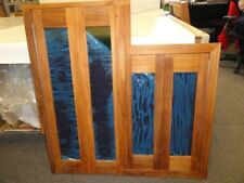 "TEAK 4 PANEL DOUBLE GALLEY DOOR / WINDOW PANEL 38-1/2"" X 38-3/8"" MARINE BOAT"