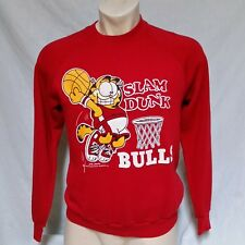 VTG 1978 Chicago Bulls Sweatshirt Crewneck 50/50 Garfield Cartoon 70s NBA Large