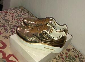 Nike Air Max 1 SP Liquid Gold Metallic Gold Sail Women's Size 8