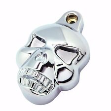 SKULL HORN COVER STOCK COWBELL For Harley Bobber Chopper Cruiser Motorcycle