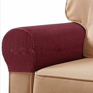 Removable Arm Chair Protector Sofa Armchair Covers Armrest Stretch Couch 2PCS