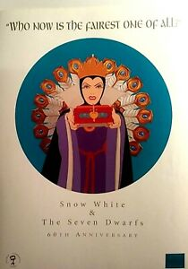 """SNOW WHITE WDCC POSTER CELEBRATING 60TH ANNIVERSARY, 18x24"""", NEW NM-M"""