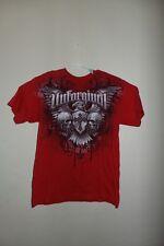 Unforgiven  Mens T-Shirt Red Skulls T Shirt LARGE