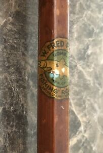 Rare W Pepper Rome NY Bamboo Boat Trolling Rod Scarce Bamboo Fishing Rod
