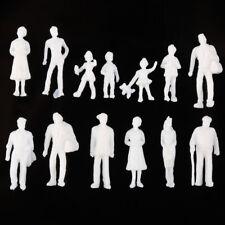 100pcs White Model Train People Figure Passengers Unpainted 1:300 Scale Toys