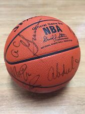 1987/88 LAKERS NBA FINALS GAME BALL MAGIC JOHNSON ABDUL JABBAR PSA/DNA COA AUTO