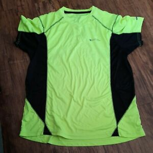 Mens cycling top bundle x2 size M Mountain Warehouse bright yellow cycle TShirts