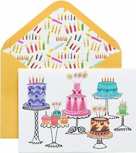 Papyrus  Birthday Card - Cakes & Cupcakes with Gems & Glitter & Bling by Hensick