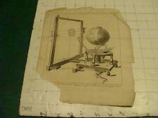 Original Engraving:1700's or 1800's - Ferguson's machine for exhibiting time