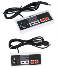 2 Pcs Classic USB NES Famicom Controller Joypad Gamepad for Windows PC/MAC White