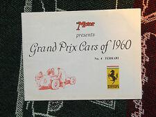 GRAND PRIX CARS 1960 - #4 Ferrari-Spirales notice-F1