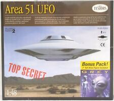 Testors AREA 51 UFO 1:48 Scale Flying Saucer w/ Gray Alien Model Kit 576X New
