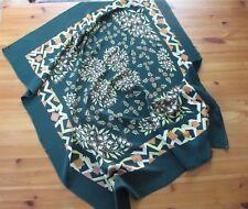 Nostalgisches vintage Tuch in Dunkelgrün mit altem Muster ca. 80 x 90 cm