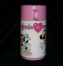 VINTAGE DISNEY BABY MINNIE N ME PINK THERMOS ALADDIN PLASTIC FOR LUNCH BOX CUP