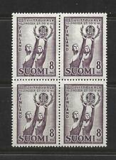FINLAND STAMPS SCOTT #251 BLOCK OF 4 MNH 1946