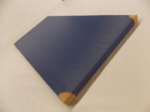 Turnmatte, Sportmatte in blau mit Lederecken  200x100x6 cm
