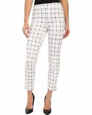 HUE Leggings Sz XL White Black Windowpane Loafer Ponte Skimmer Legging U16556H
