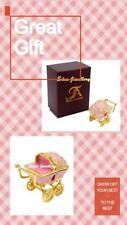TAYLOR AVEDON Keepsake Trinket Box Baby Girl TROLLEY Pram 1181Christening Gift