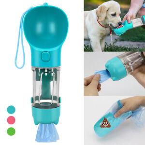 Multifunctional Pet Dog Cat Water Bottle Portable Cup & Waste Bag & Poop Scoop