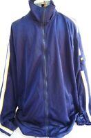 Fila-Mens Athletic Warm-Up Track Jacket, Large/XL, Full Zip, Blue