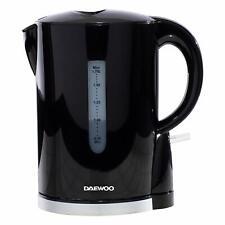 Daewoo 1.7L Plastic Cordless 2200W Black Kettle SDA1682GE