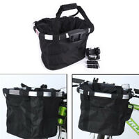 Bicycle Basket Aluminum Alloy Bike Detachable Cycle Front Carrier Bag