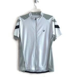 BONTRAGER SS Biking Jersey Men's Medium Full Zipper 3 Back Pockets White EUC