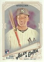 2018 Topps Allen & Ginter Glossy Silver #201 Miguel Andujar New York Yankees