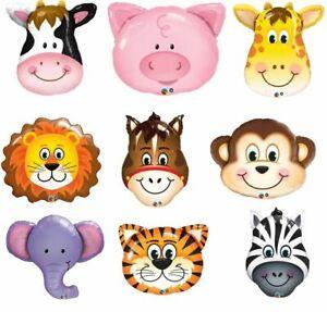 Jungle Zoo Farm Jumbo Animal Foil Balloons 3 Sizes Kid Birthday Party Melb Stock