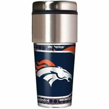 NFL Denver Broncos 360 Wrap Travel Tumbler Football Fan Coffee Mug Cup