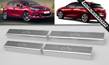 Citroen C4 Mk2 (2nd Gen) Inoxydable Sill Plaques/coup De Pied Plaques/Sill Protection