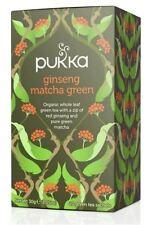 PUKKA Ginseng Organico Matcha Tè Verde 20 satchets (pacco da 4)
