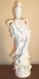 "Vintage Quan Kwan Yin Blanc De Chine Figure 12"""