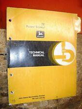 John Deere 2E Power Blower Factory Technical Service Catalog Manual Tm 1325 1/85