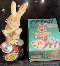 Vintage Cragston #770 Peter The Jolly Drumming Bunny Alps Japan In Box