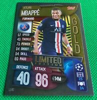 MATCH ATTAX 2019/20 LIMITED EDITION KYLIAN MBAPPE PSG GOLD LE4G