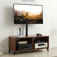 Wood Entertainment Center TV Stand with Swivel Mount for 32-65 inch TVs ,Walnut
