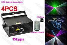 4xRemote control SD card laser effect light shows RGB lasershow stage shop Disco